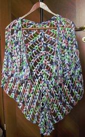 Scialle triangolare o kefia multicolor