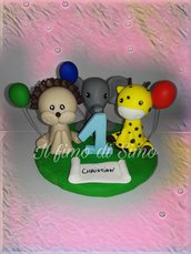 cake topper animali in pasta polimerica