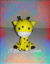 bomboniera giraffa in pasta polimerica