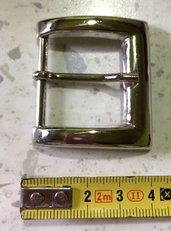 Fibbia in Metallo color Argento lucido