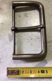 Fibbia in Metallo color Argento Satinato