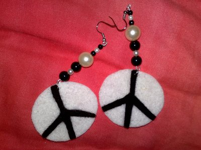 orecchini simbolo della pace