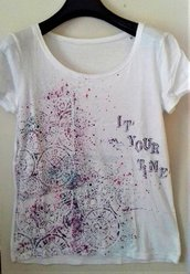 T-shirt donna 100% cotone 'IT'S YOUR TIME'