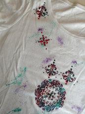 T-shirt donna 100% cotone con applicazioni strass