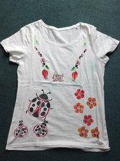 T-shirt donna 100% cotone COCCINELLE