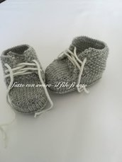 Scarpine bambino / bambina in pura lana merinos
