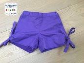 Shorts in cotone viola