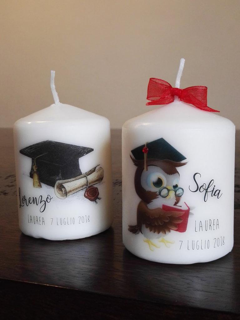 bomboniere  laurea, segnaposto, candela