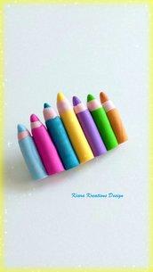 Regalo maestra, fermaglio per capelli con matite colorate in fimo, accessori per capelli, regalo fatto a mano, fermaglio maestra