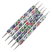 LOTTO 5 Dotting Tool Stainless Steel like Ceramic Flower