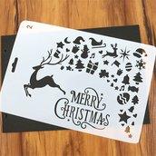 "Stancil ""DIY Merry Christmas"" (26x17.5cm) (cod.2scrap)"