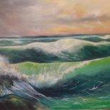 Paesaggio marino con mare mosso
