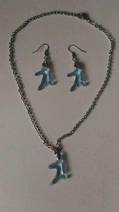 parure collana e orecchini corallo idea regalo cerimonia