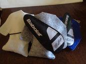 tennis idea bomboniera segnaposto sacchetto maglia con portaracchetta