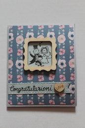 Biglietto Auguri Matrimonio - Congratulazioni