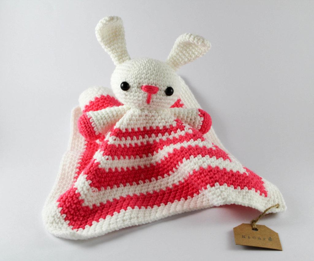 Copertina Doudou coniglietto rosa e bianco