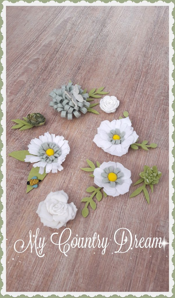Mix fiori con foglie