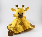 Copertina Doudou giraffa giallo e marrone