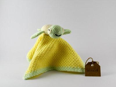 Copertina Doudou tartaruga giallo e verde