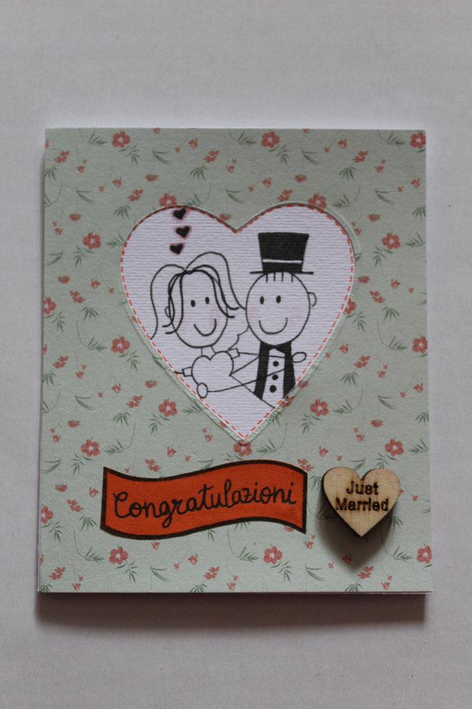 Auguri Matrimonio Bonifico : Biglietto auguri matrimonio just married feste biglietti e