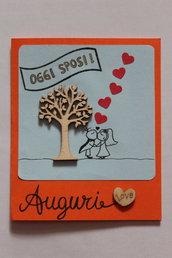 Biglietto Auguri Matrimonio - Oggi Sposi