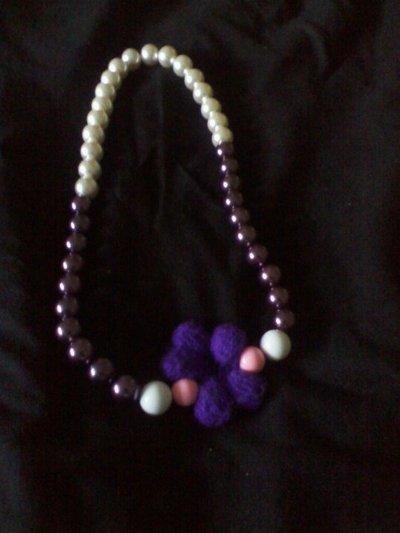 collana perle e lana