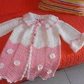 Giacchina uncinetto in filo e anche in lana