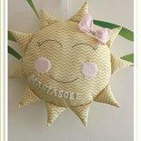 Ghirlanda nascita a forma di sole in cotone francese.