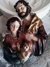 stampo tridimensionale scultura sacra famiglia cm.17x12,5 molto dettagliato
