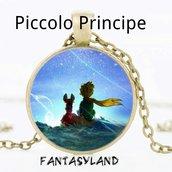 Ciondolo piccolo principe favola racconto collana cabochon vetro volpe amicizia