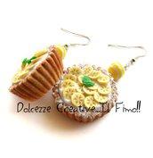 Orecchini Crostate - Piccola pasticceria - Con crema pasticcera, banana e foglie di menta