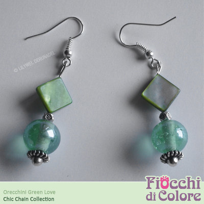 Green Love Earrings