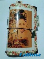 Astuccio per Traveler's notebook  KALLIDORI Japan Style fatta a mano in gomma eva   e carta stampata plastificata.