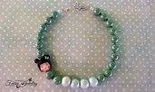 Collana giapponesina fimo perle ceramica regolabile idea regalo moda bellezza gioielli artigianali