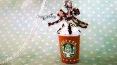 Collana gelato caffè panna miniatura realistica, pendente, kawaii bigioteria fimo