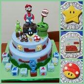 cake topper Super Mario