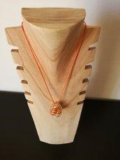 Collana perle in gabbia