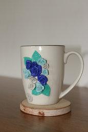 tazza rose blu