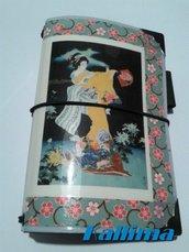Mini astuccio per Traveler's notebook  KALLIDORI  GEISHA 2 fatto a mano in gomma eva   e carta stampata plastificata.