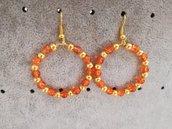 Cerchi con perline arancioni
