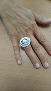 Anello alluminio e perla