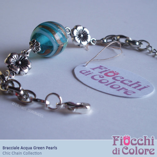 AcquaGreen Pearls Bracelet