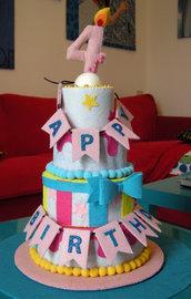 torta di feltro a più strati smontabile, gioco creativo, Montessori, cake design, compleanno. Felt Swiss cakes set. Felt bakery. Felt pastry