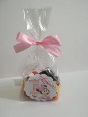 Busta bustina contenitore marshmallow caramelle confetti segnaposto compleanno festa nascita comunione battesimo 18