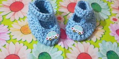 Scarpette scarpine crochet tipo Ugg neonato bebè