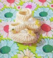 Scarpette scarpine crochet neonato bebè