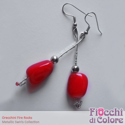 Fire Rocks Earrings