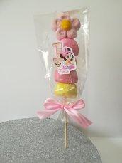 Stand porta spiedini spiedino torta lecca lecca marshmallow caramelle feste compleanno primo Minnie Topolino personaggi a scelta vassoio