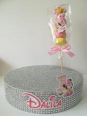 Base Porta spiedini marshmallows caramelle lecca lecca stand vassoio compleanno festa Minnie spiedino