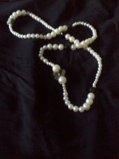 collana feltro e perle